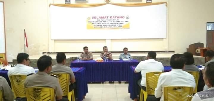 Lakukan Penelitian dan Supervisi Pakaian PDH, Tim Puslitbang Polri Kunjungi Polres Minsel