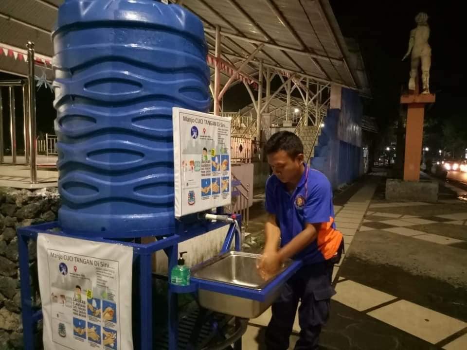 Tekan penyebaran Covid -19, Ini lokasi tempat cuci tangan disediakan Pemkot Manado