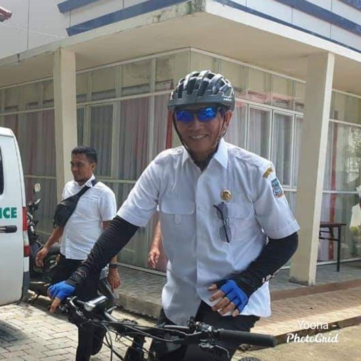 Semangati calon Paskibra Manado Tahun 2020, GSVL pilih gunakan sepeda datangi LPMP Pineleng