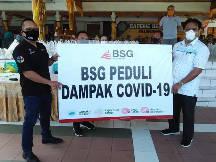 BSG Cabang Tahuna Salurkan Bantuan Terkait Covid-19