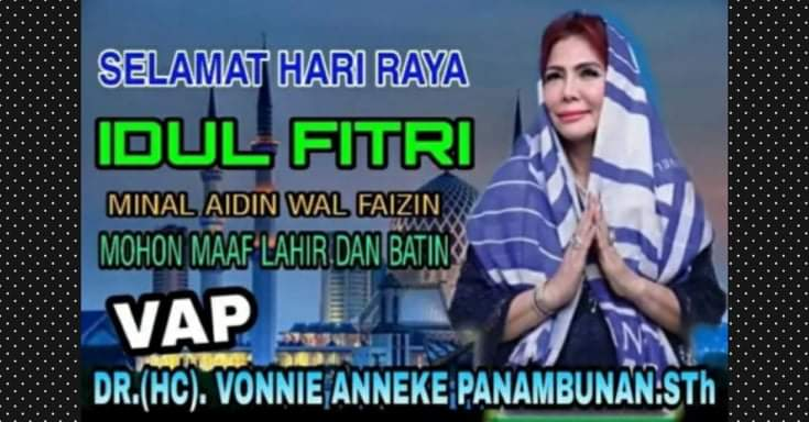 Bupati Minut DR (HC) Vonnie Anneke Panambunan STh mengucapkan Selamat Hari Raya Idul Fitri 1441 H