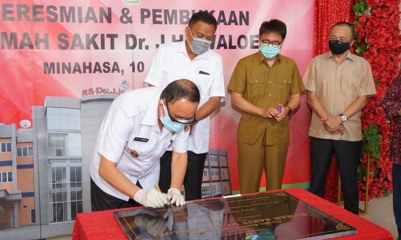 ROR Dampingi Olly Resmikan RS dr Awaloei