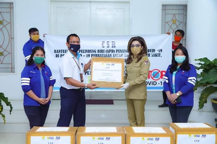 Diterima Bupati Tetty, PT PJB Ubjom Luar Jawa II PLTU Amurang salurkan CSR berupa APD