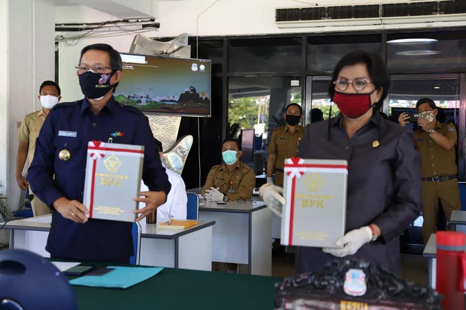 LKPD 2019, Pemkot Manado Raih WTP