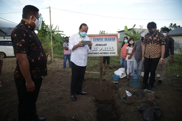 MJL Lakukan Peletakan Batu Pertama Pembangunan GBI Pniel Manembo – nembo Atas