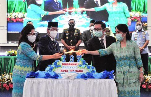 "HUT ke 397 Kota Manado ditengah Pendemi Covid-19, GSVL : ""Bersama torang bisa"""