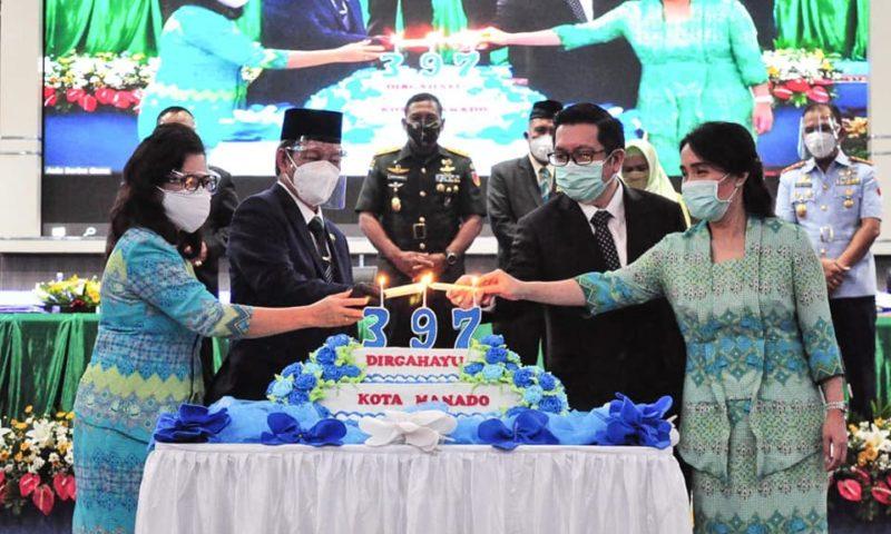 """HUT ke 397 Kota Manado ditengah Pendemi Covid-19, GSVL : """"Bersama torang bisa"""""""