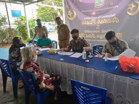 Dana Lansia, Camat Sario tindaklanjuti instruksi Walikota Manado
