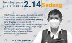Permalink ke GSVL konsisten sosialisasi protap covid-19, Manado pekan kedelapan zona risiko oranye