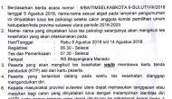Permalink ke Timsel Umumkan Calon KPU Kabupaten/Kota di Sulut Lulus Tes Psikologi