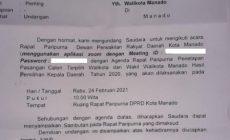 Permalink ke Penetapan AARS, DPRD Manado undang hadir GSVL via zoom meeting