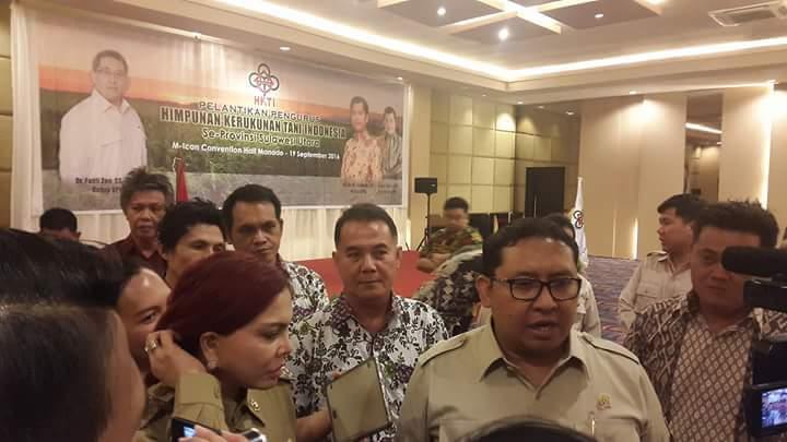 Dilantik Fadly Zon, Frato Ketua HKTI Minsel