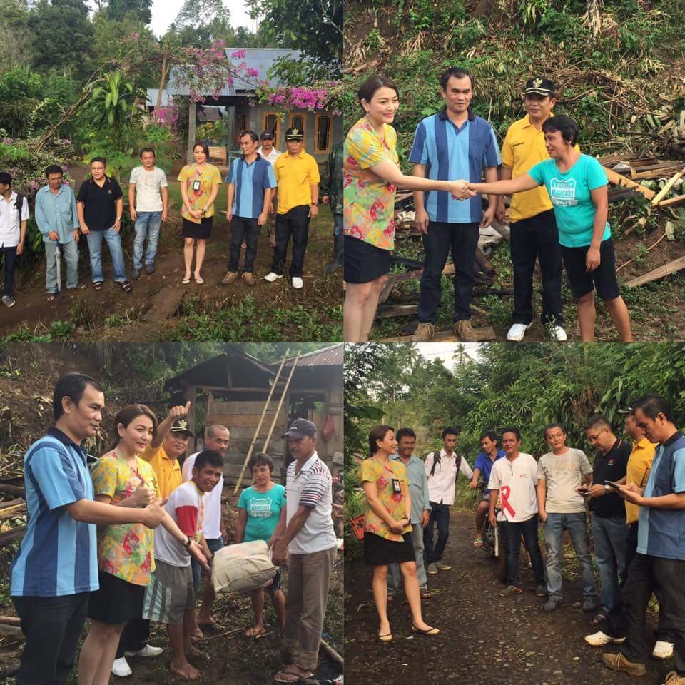 Lagi, PMI Minsel Salurkan Bantuan Untuk Korban Bencana di Desa Suluun
