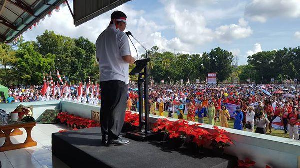 Permalink ke Apel Akbar dan Parade Nusantara Bersatu, Wagub Sulut : NKRI Harga Mati