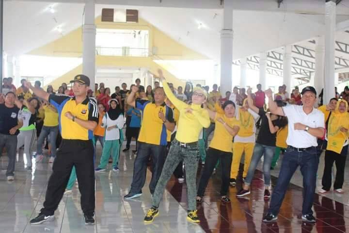 Wujud Toleransi, BKSAUA dan Pemkab Minsel Gelar Olahraga Bersama