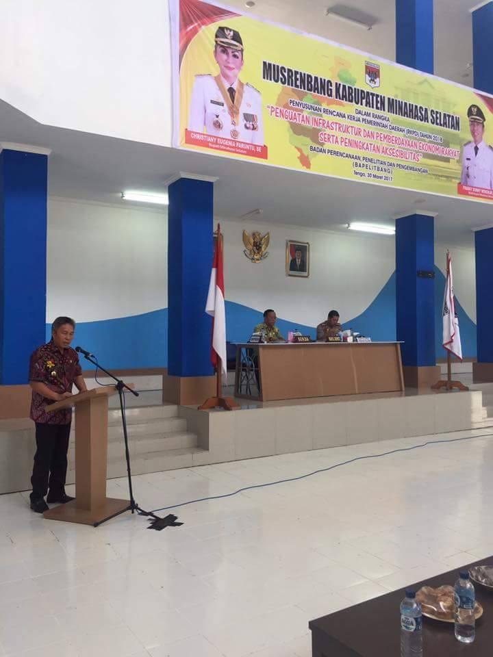 Pemkab Minsel Gelar Musrenbangkab RKPD Tahun 2018