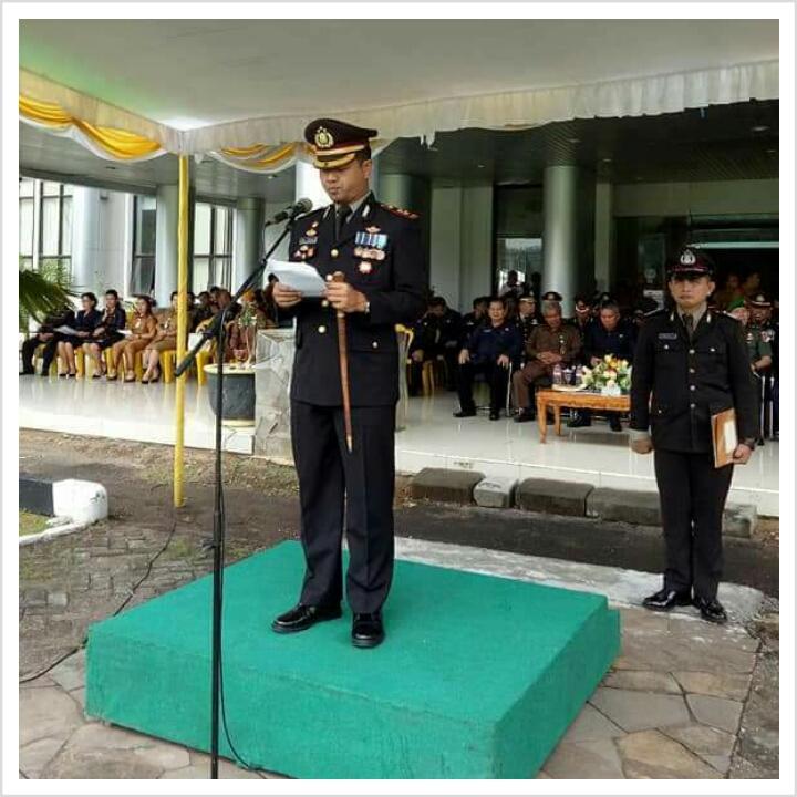 Kapolres Arya Perdana Jadi Irup Upacara Sumpah Pemuda di Minsel
