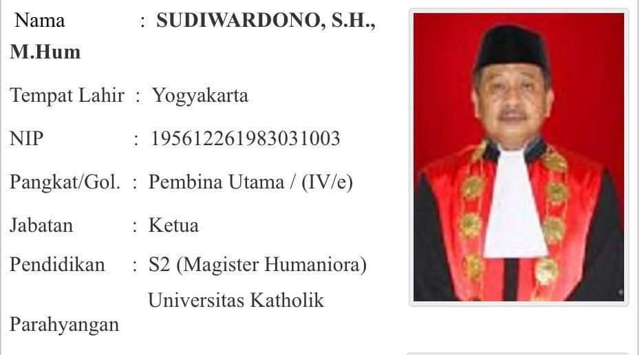 Ditetapkan Tersangka oleh KPK, Karir Ketua Pengadilan Tinggi Sulut Sudiwardono Terancam Terhenti