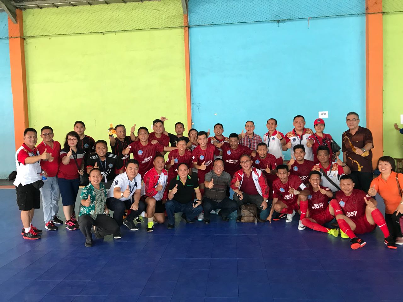 "Permalink ke HEBAT..!!! Tim Futsal Sulut Lolos 16 Besar, Clay : ""To God Be The Glory"""