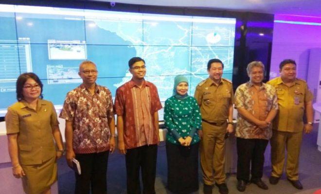Tim Penilai Geospasial Kunjungi Ruang Cerdas Comand Center