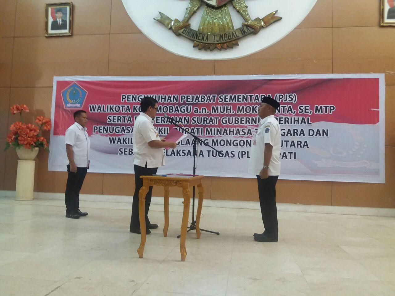 Permalink ke Mokoginta Resmi Jabat Walikota Kotamobagu Gantikan Tatong Bara