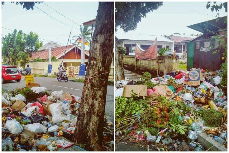 Tebar Aroma Busuk, Tumpukan Sampah di Depan Kantor Lurah Ranoyapo Dikeluhkan