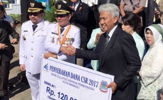 Pemkot Manado Terima CSR Dari Bank SulutGo