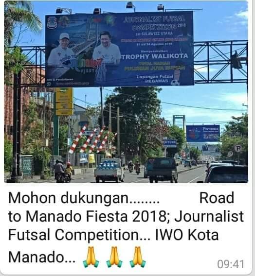 Permalink ke Road to Manado Fiesta 2018: Wali Kota GSVL Sediakan Puluhan Juta untuk Jurnalis se Sulut