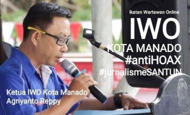 IWO Manado Deklarasi Menolak HOAX di Upacara Sumpah Pemuda