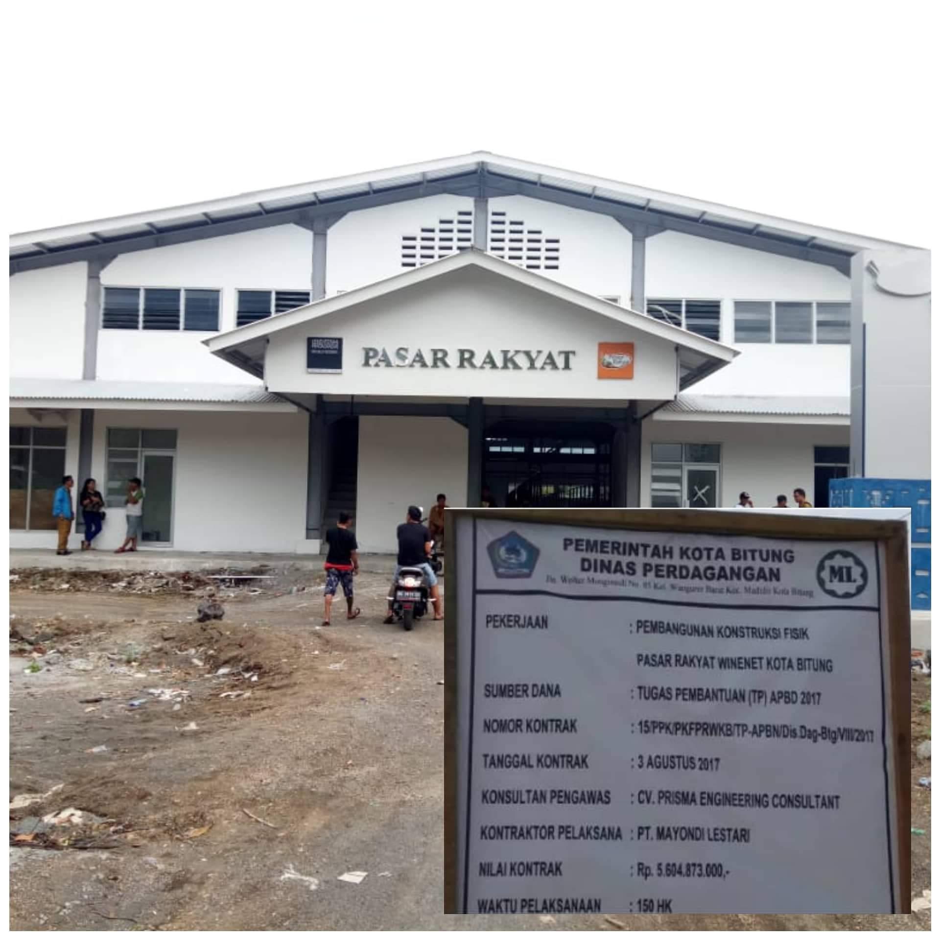 Permalink ke Telan Anggaran 5,6 M, Pembangunan Pasar Rakyat Pateten Diperiksa POLDA SULUT