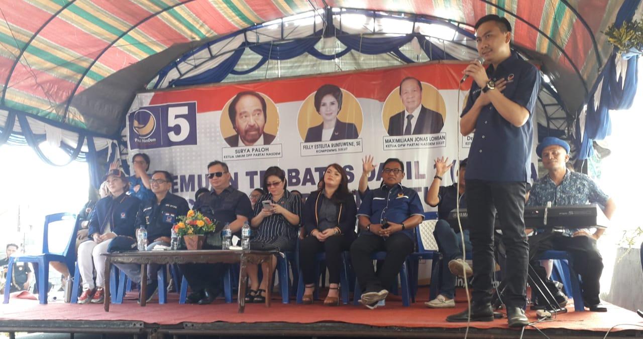 Permalink ke Nick Adicipta Lomban Ajak Kader dan Simpatisan Partai Nasdem Berpolitik Santun