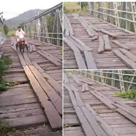 "Permalink ke Jembatan Penghubung Minsel – Minahasa ""Tabiar"", Warga Desak Pemprov Turun Tangan"