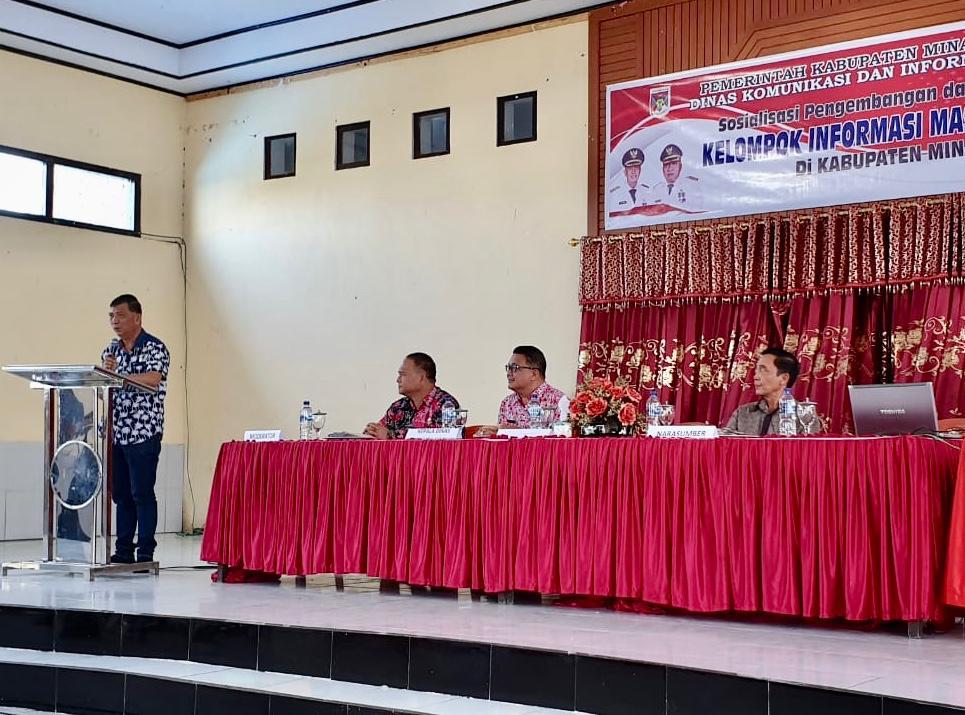 Permalink ke Wakili Bupati, Wagey Buka Sosialisasi KIM di Minahasa