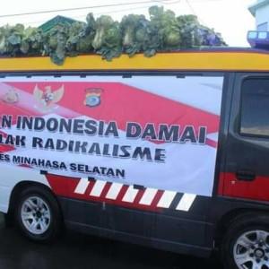 Polres Minsel Seruhkan Indonesia Damai di MPF 2019