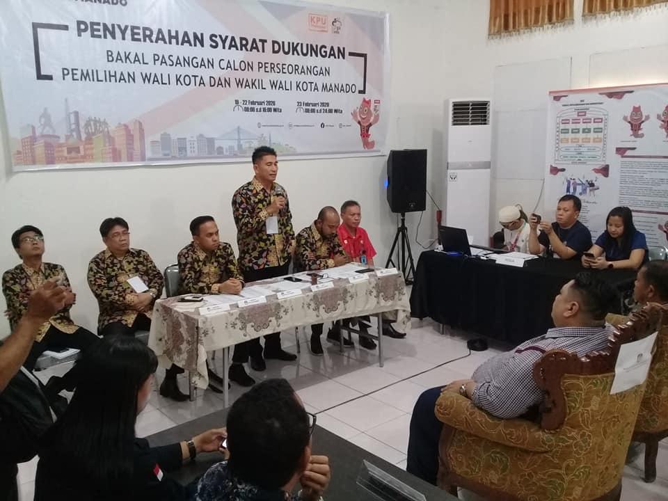 Bawa 33ribu Dukungan ke KPU, Kambey-Kirojan siap tarung di Pilwako Manado