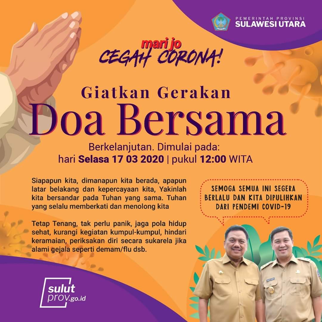 Permalink ke Doa Bersama Dari Sulawesi Utara, Cegah Corona di Dunia