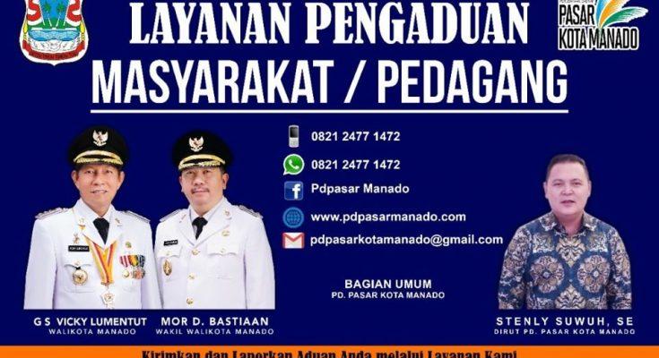 Inovasi PD Pasar Manado tingkatkan pelayanan, buka pengaduan warga dan bisa cek harga sembako di website