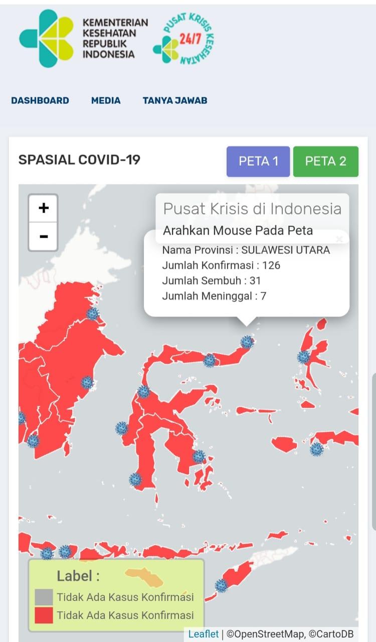 Permalink ke Kasus COVID-19 di Sulut Bertambah 10, Total 126