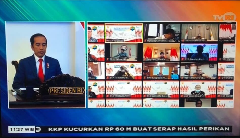 Walikota Manado Ikuti Musrembangnas 2021 melalui vicon, Jokowi : 2021 Adalah Tahun Recovery