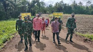 Permalink ke Didampingi Sekda Minahasa, Pangdam XIII Merdeka Kunjungi Lokasi TMMD