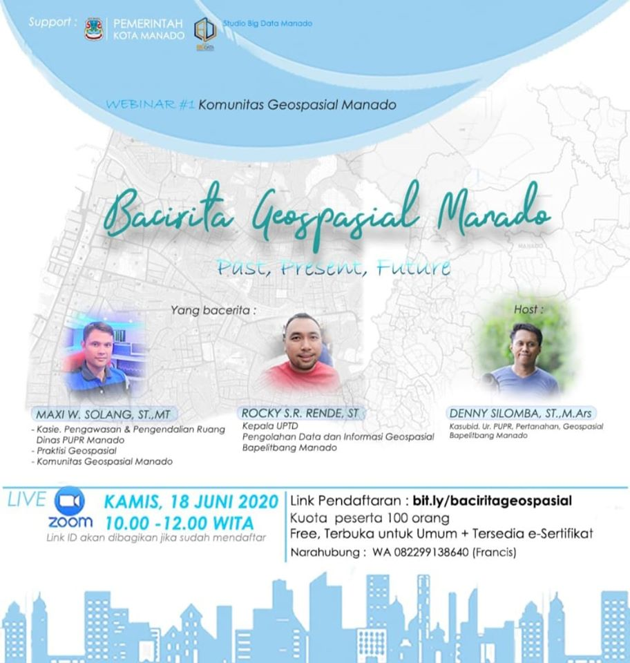 Permalink ke Kamis Besok, Komunitas Geospasial Manado Gelar Wabinar