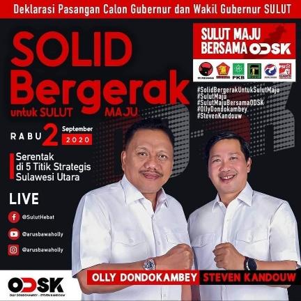 Permalink ke Sore Ini,  PDI-P Deklarasikan Pasangan Calon di Pilkada Sulut