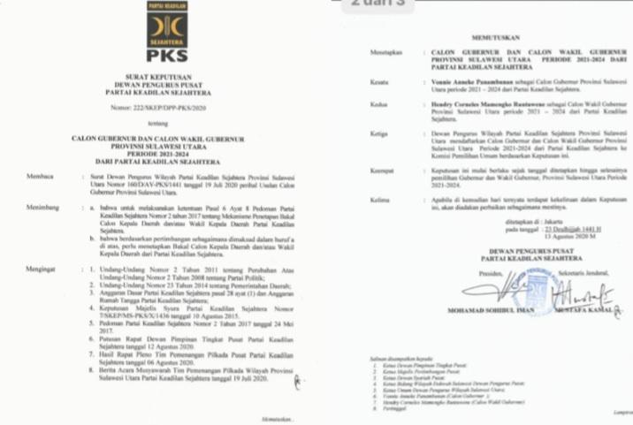 Permalink ke Pilkada Sulut, PKS Dukung VAP-HCMR