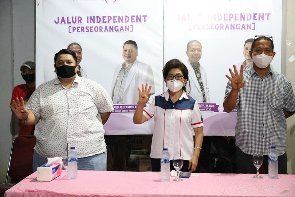 Permalink ke Calon Perseorangan di Pilkada Manado dukung dan siap menangkan JPAR-AiM