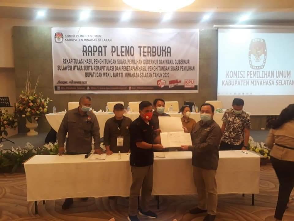 Permalink ke Pleno Rekapitulasi KPU, FDW-PYR Raih Suara Terbanyak di Pilkada Minsel