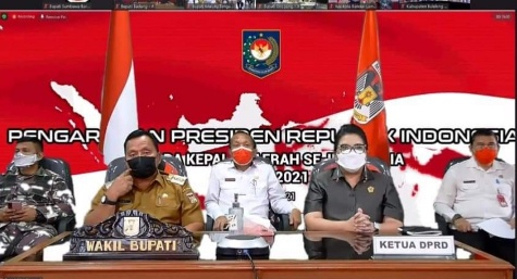 Permalink ke Bersama Forkopimda, Wabup RD Ikuti Rakor Dengan Jokowi